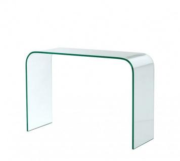 Casa Padrino Luxus Art Deco Glas Konsole 110 x 40 x H. 75 cm - Luxus Kollektion