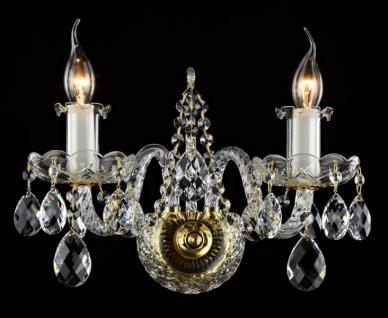 Casa Padrino Barock Kristall Wandleuchten Gold 29, 5 x H 28 cm Antik Stil - Wandlampe Wand Beleuchtung