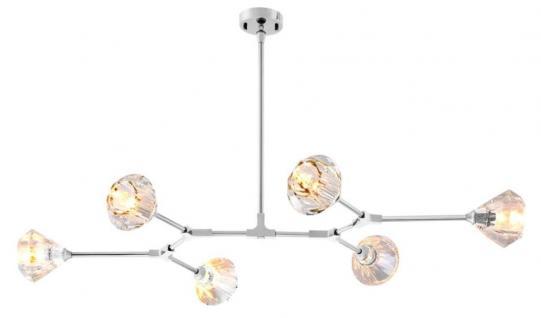 Casa Padrino Luxus Designer Kronleuchter - Möbel Lüster Leuchter Hängeleuchte Hängelampe