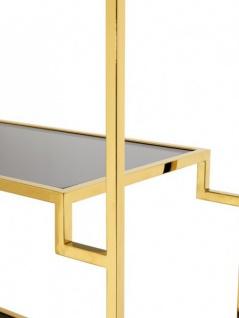 Casa Padrino Luxus Regal Schrank Edelstahl Gold mit Rauchglas B 90 x H 230 cm Bücherregal Regal Schrank - Art Deco Möbel - Vorschau 2