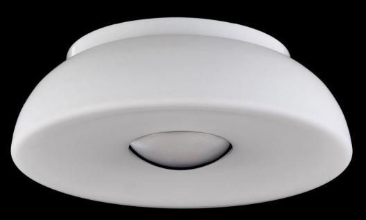 Casa Padrino Luxus Deckenleuchte Weiß / Silber Ø 30 x H. 10 cm - Wohnzimmer Deckenlampe - Vorschau 2