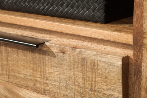 Casa Padrino Designer Fernsehschrank Natur B.130cm x H.45cm x T.45cm - Sideboard - Kommode - Handgefertigt aus Mango Massivholz! - Vorschau 4
