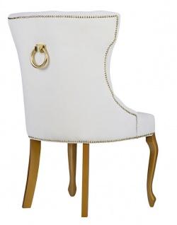Casa Padrino Luxus Esszimmer Stuhl Barock mit Metall Rückenring - Luxus Qualität - ALLE FARBEN - Neo Classic Vintage Style Hotel Stuhl - Möbel - Vorschau 4