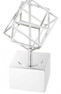 Casa Padrino Luxus Tischleuchte Silber / Grau 40 x H. 98 cm - Designer Tischlampe - Vorschau 2