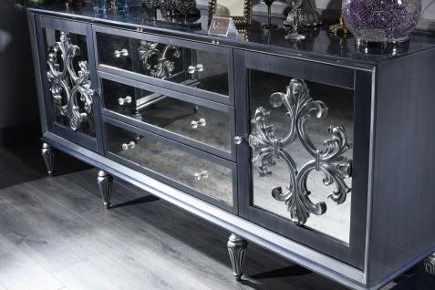 Casa Padrino Luxus Barock Wohnzimmer Set Grau / Blau / Silber - Kommode und 3 Spiegel - Barock Wohnzimmermöbel - Vorschau 2