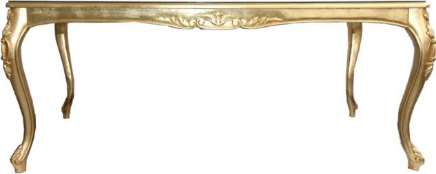Casa Padrino Luxus Barock Esszimmer Set Royalblau / Gold - 1 Esstisch mit Glasplatte und 6 Stühle - Barock Esszimmermöbel - Made in Italy - Luxury Collection - Vorschau 2