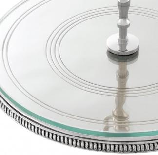 Casa Padrino Luxus Kuchen Servierplatte mit Tragegriff Silber Ø 29 x H. 18, 5 cm - Luxus Etagere 1-Stufig - Vorschau 4