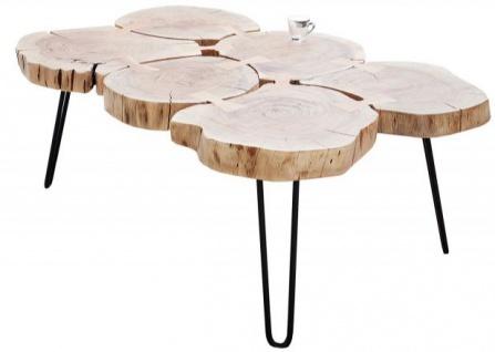 Casa Padrino Designer Massivholz Couchtisch Akazie Natur 115 x H. 40 cm - Massivholz - Salon Wohnzimmer Tisch - Unikat