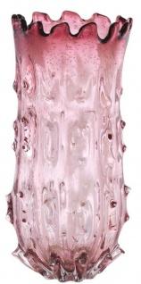 Casa Padrino Luxus Deko Glas Vase Blassrosa Ø 24 x H. 42 cm - Designer Blumenvase - Vorschau 1