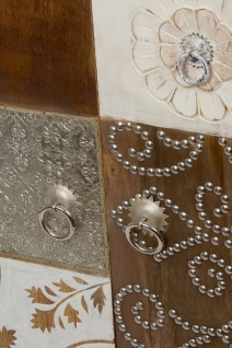 Casa Padrino Landhausstil Kommode mit 2 Türen Antik Weiß / Mehrfarbig 100 x 40 x H. 90 cm - Shabby Chic Möbel - Vorschau 5