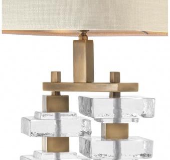 Casa Padrino Tischleuchte mit naturfarbenem Lampenschirm 27 x 40 x H. 77 cm - Luxus Hotel & Restaurant Möbel - Vorschau 4