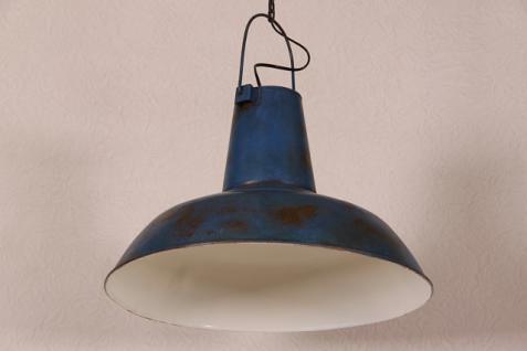 Casa Padrino Vintage Industrie Hängeleuchte Antik Stil Blau Metall - Restaurant - Hotel Lampe Leuchte - Industrial Leuchte