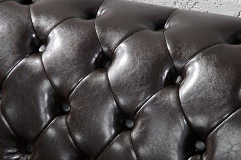 Casa Padrino Chesterfield Wohnzimmer Sofa 150 x 85 x H. 75 cm - Kunstleder 2er Couch - Chesterfield Möbel - Vorschau 4