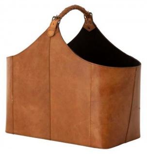 Casa Padrino Designer Büffelleder Tasche / Korb - Luxus Accessoires