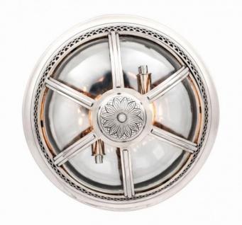 Casa Padrino Luxus Deckenleuchte Nickel Durchmesser 45 x H 30 cm Antik Stil - Möbel Lüster Deckenlampe - Vorschau 5