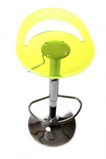 Casa Padrino Designer Acryl Barstuhl fluoreszierend, höhenverstellbar, drehbar- Polycarbonat Möbel - Acryl Möbel - Barhocker - Vorschau 1