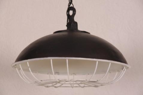 Casa Padrino Hängeleuchte Deckenleuchte Antik Stil Schwarz Industrial Vintage Design 45cm Durchmesser - Industrie Lampe Hänge Leuchte