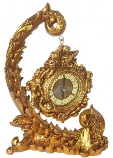 Casa Padrino Barock Tischuhr Gold 29 x 13 x H. 21 cm - Prunkvolle Deko Uhr im Barockstil