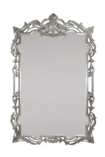 Casa Padrino Barock Wandspiegel Antik Silber 70 x H. 110 cm - Luxus Edition