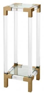 Casa Padrino Luxus Beistelltisch / Säule Messingfarben 35 x 35 x H. 100 cm - Designermöbel