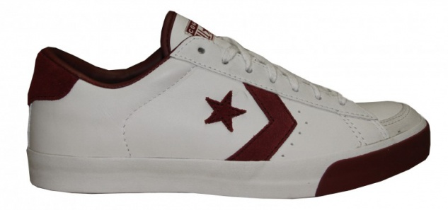 Converse Skateboard Schuhe Pro Lo Ox White / Cranberry Sneakers Shoes
