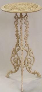 Casa Padrino Antik Stil Pflanzentopfständer aus Gusseisen Weiss - Blumentopfständer - Blumenständer