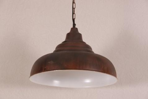 Casa Padrino Hängeleuchte Deckenleuchte Antik Stil Bronzefarben Industrial Vintage Design 43cm Durchmesser - Industrie Lampe Hänge Leuchte