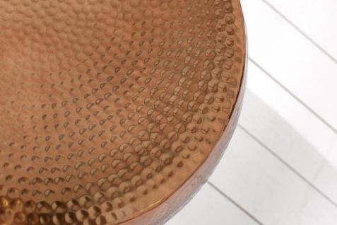 Casa Padrino Luxus Couchtisch Kupfer 60 cm Aluminium - Wohnzimmer Salon Tisch - Unikat - Vorschau 2