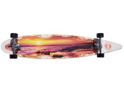 Krown - Longboard Komplettboard Skateboard Sunset City Surf Longboard Complete