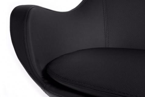 Casa Padrino Designer Sessel Schwarz - Lounge Sessel - Büro Sessel - Drehsessel - Vorschau 5
