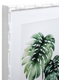 Casa Padrino Bilder / Kunstdruck Set Tropische Pflanzen Grün / Weiß 59 x H. 69 cm - Luxus Deko - Vorschau 2