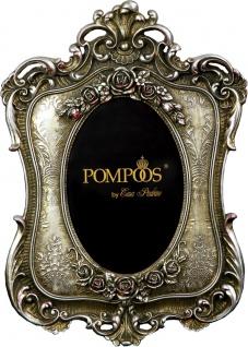 Pompöös by Casa Padrino Barock Bilderrahmen Antik Stil Silber von Harald Glööckler 26 x 18.5 cm - Foto Rahmen