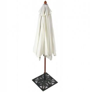 Casa Padrino Vintage Sonnenschirm (ohne Ständer) Creme aus indonesischem Hartholz Durchmesser 300 cm