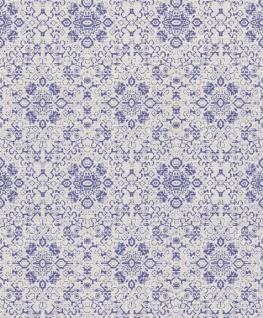 Casa Padrino Barock Tapete Grau / Lila 10, 05 x 0, 53 m - Textiltapete im Barockstil
