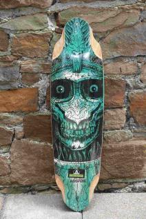Koston Longboard Profi Deck Carver Skull Amort 36.7 x 10.0 inch - Lagerware mit leichten Kratzern