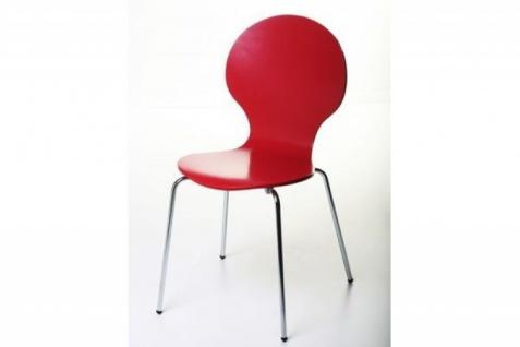 Casa Padrino Designer Stuhl Form Rot 12 - Vorschau 1