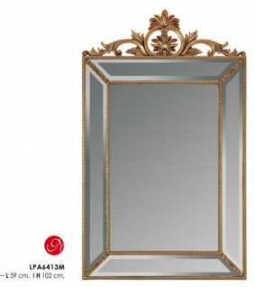 Casa Padrino Barock Wandspiegel Gold H 102 cm, B 59 cm - Edel & Prunkvoll - Goldener Spiegel
