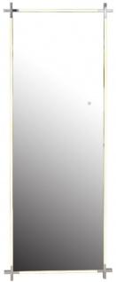 Casa Padrino Luxus LED Wandspiegel Silber 86 x 5 x H. 219 cm - Moderner Badezimmer Spiegel - Luxus Qualität