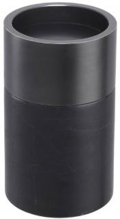 Casa Padrino Luxus Kerzenhalter Set Schwarz / Bronzefarben - 3 runde Marmor Kerzenhalter - Luxus Qualität - Deko Accessoires - Vorschau 4