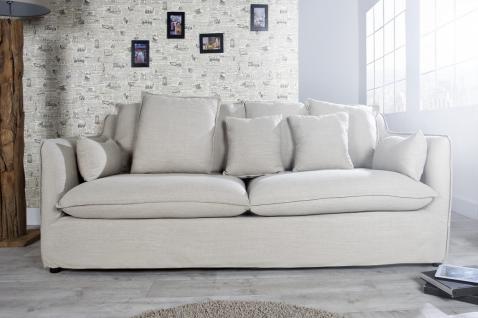 Casa Padrino Designer Wohnzimmer 3er Sofa beige - Luxus Qualität