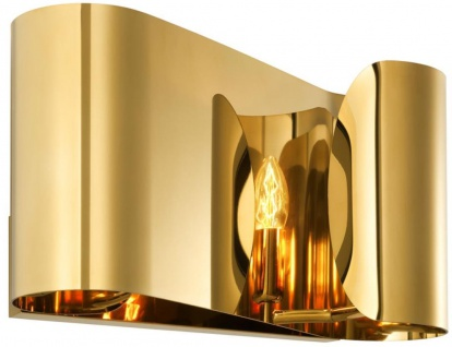Casa Padrino Luxus Wohnzimmer Wandleuchte Gold 38 x 11 x H. 21 cm - Designer Hotel Restaurant Wandlampe