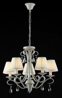 Casa Padrino Barock Kristall Decken Kronleuchter Cream Gold 58 x H 50 cm Antik Stil - Möbel Lüster Leuchter Hängeleuchte Hängelampe