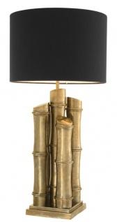 Casa Padrino Luxus Edelstahl Tischleuchte Vintage Messing 23 x 45 x H. 91, 5 cm - Luxus Kollektion