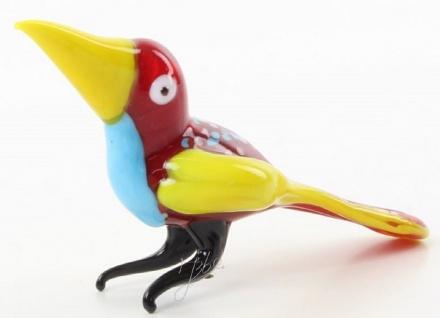 Casa Padrino Glasfigur Tukane Vogel - bunte Dekofigur aus Glas - Figur Skulptur Deko Dekoration Geschenk