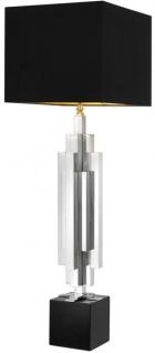 Casa Padrino Luxus Tischleuchte 16 x H. 110 cm - Designer Tischlampe