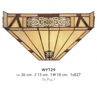 Casa Padrino Tiffany Wandleuchte Durchmsser 36 x 18 cm Wand Leuchte Lampe Wandlampe