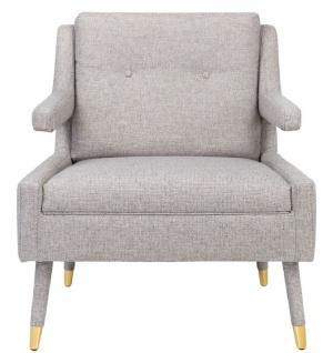 Casa Padrino Luxus Sessel Grau / Gold 76 x 88 x H. 89 cm - Wohnzimmer Sessel im Neoklassichen Stil - Designer Wohnzimmermöbel - Vorschau 1