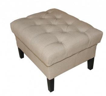 Casa Padrino Designer Sitzhocker Chesterfield Grau Rechteckig 60 x 50 cm Sitzhöhe 42cm Hocker