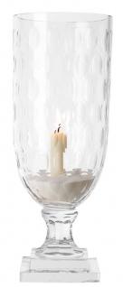 Casa Padrino Luxus Glas Kerzenleuchter 15 x H. 38 cm - Hotel Accessoires