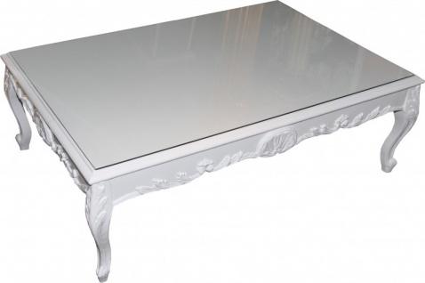 Casa Padrino Barock Couchtisch Weiß 120 x 85 cm - Couchtisch - Wohnzimmer Tisch - Limited Edition